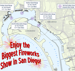 Large Bay Chart san diego  Big Bay Fourth of July Fireworks