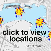 Watch the fireworks from locations around San Diego's Big Bay